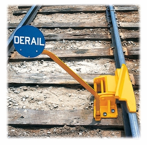 Aldon 4014-12-5R 1-Way Hinged Railroad Derail (Right Throw) With Pop-Up Sign Holder