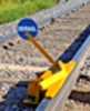 Aldon 4014-18-5D 2-Way Hinged Railroad Derail (For Locomotive) With Manual Sign Holder