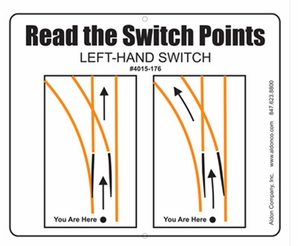 "Aldon 4015-176 Read Switch Points Left Hand Switch 22"" X 19"" (Pole Mount)"