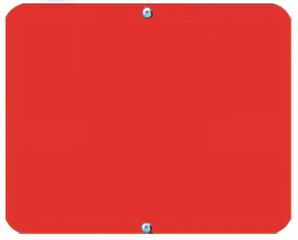 Aldon 4015-18-R Blank Red Sign Plate