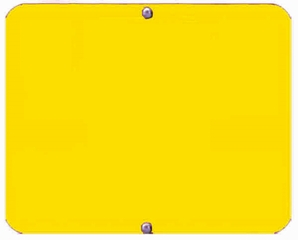 "Aldon 4015-18-Y Blank Yellow Sign Plate (12""X15"")"
