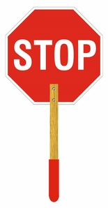 Aldon 4015-189 Stop Sign With Wooden Handle
