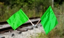 Aldon 4015-22 Green Nylon Flags