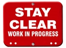 Aldon 4015-274 Stay Clear - Work In Progress Red