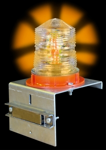 Aldon 4015-35 Solar Flashing Light, Amber, With Magnet Base