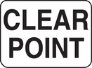 Aldon 4015-36 Clear Point Sign