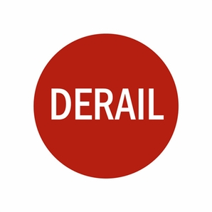 Aldon 4015-72 Replacement Derail Sign In Red