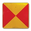 Aldon 4015-87 Conditional Stop Railroad Marker Sign (Red/Yellow)