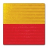 Aldon 4015-97 Red/Yellow Be Prepared To Stop Sign Plate