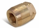 Aldon 4024-242 Bronze Socket Inserts For Never Slip Holders Hex: 1-3/8""
