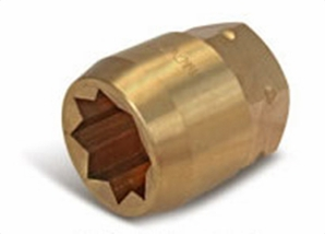 Aldon 4024-260 Bronze Socket Inserts For Never Slip Holders 8 Point: 1-5/16""