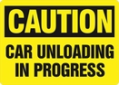 Aldon 4115-124 Caution - Car Unloading In Progress Sign