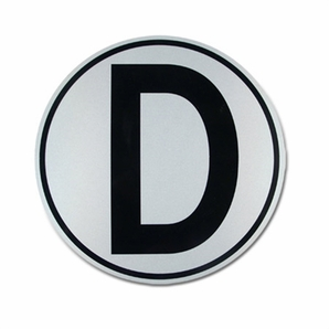 "Aldon 4115-155 ""D"" Derail Sign 16"" Dia. Single Face"