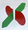 Aldon 4115-166 New Century Target - Red/Green