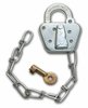 Aldon 4124-178 Steel Padlock With Chain