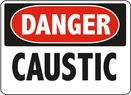 Aldon 6-CAUST Danger - Caustic Sign
