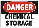 Aldon 6-CHEMS Danger - Chemical Storage Sign