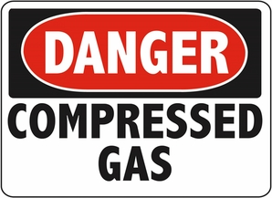 Aldon 6-COMG Danger - Compressed Gas Sign