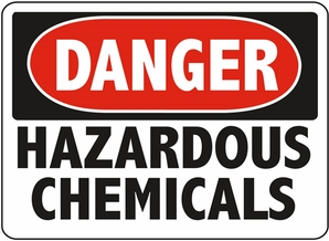 Aldon 6-HAZC Danger - Hazardous Chemicals Sign