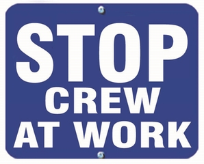 Aldon 6SCAW-B Stop - Crew At Work (Blue)