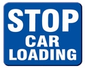 "Aldon 6SCL-B Stop Car Loading"" Blue Sign Plate 12"" X 15"""