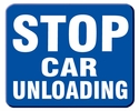 "Aldon 6SCU-B Stop Car Unloading, Blue Sign Plate 12"" X 15"""