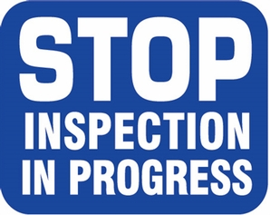 Aldon 6SIIP-B Stop Inspection In Progress - Blue