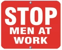 Aldon 6SMAW-R Stop - Men At Work (Red)