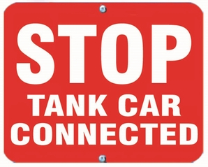 Aldon 6STCC-R Stop - Tank Car Connected (Red)