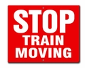 Aldon 6STM-R Stop - Train Moving - Red Sign Plate