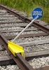 Aldon 4014-06-S Sabertooth� Portable Railroad Derail With Sign, Left Throw