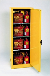 Eagle 2310 Cabinet One Door Self-Closing Three Shelves 24 Gal.