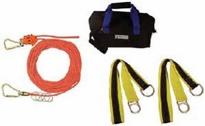 Falltech 777075 Rope Horizontal Lifeline System 75ft 4person