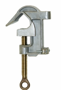 "Hastings 10375 Ground Clamp, 2"" C-Head With Serrations"