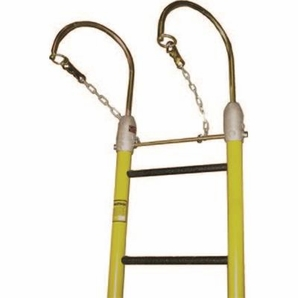 "Hastings 13032 2 1/2"" Heavy Duty Side Rails One Piece Fiberglass Ladder With 7 1/2"" Hooks"