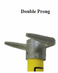 "Hastings 4685-6 1 1/4"" x 6' Tie Stick W/Double Prong & Universal"