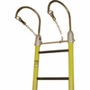 Hastings 7244 2� Light Duty Rails One Piece Fiberglass Ladders With 12� Hooks