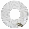 "MSA 415870 5/8"" 50' Polyester WHITE Rope, 36C Snap Hook"