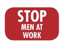 Nolan BF-11 Red Flag, �Stop Men At Work�