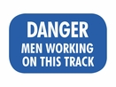 Nolan BF-4 Blue Flag, �Danger Men Working On This Track�
