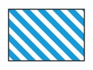 Nolan BF-7 Striped Blue Flag, Diagonal Lines (Sold Separately)