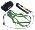 Workman Fall Protection Kit with Qwik-Fit Leg Strap Harness