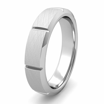 Brick Square Wedding Band