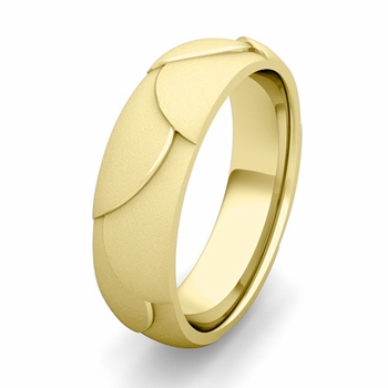 Customized Harmony Comfort Fit Wedding Band Ring in Gold or Platinum