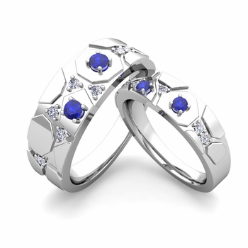 Build Unique Wedding Ring Band for Him and Her with Diamonds and Gemstones