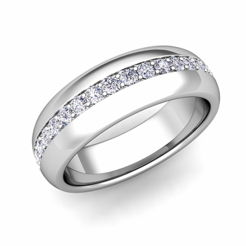 Build Wedding Anniversary Ring Band in Pave Setting with Diamonds and Gemstones