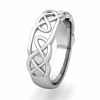 Celtic Lovers Knot Wedding Band