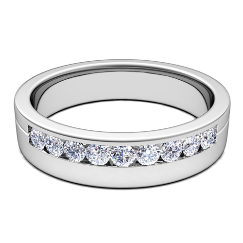 Order Now Ships On Wednesday 9 26order In 14 Business Days Channel Set Mens Comfort Fit Diamond Wedding Band
