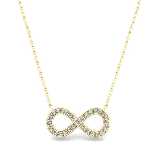 Classic diamond necklace in 14k gold infinity pendant order now ships on thursday 96order now ships in 14 business days aloadofball Image collections
