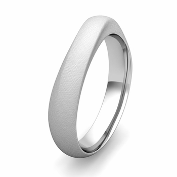 Comfort Fit Curved Wedding Band